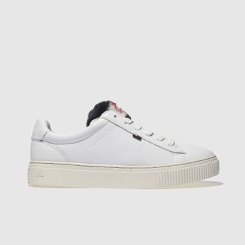 Tommy Hilfiger White Tj Funny Fur Star Sneaker Womens Trainers