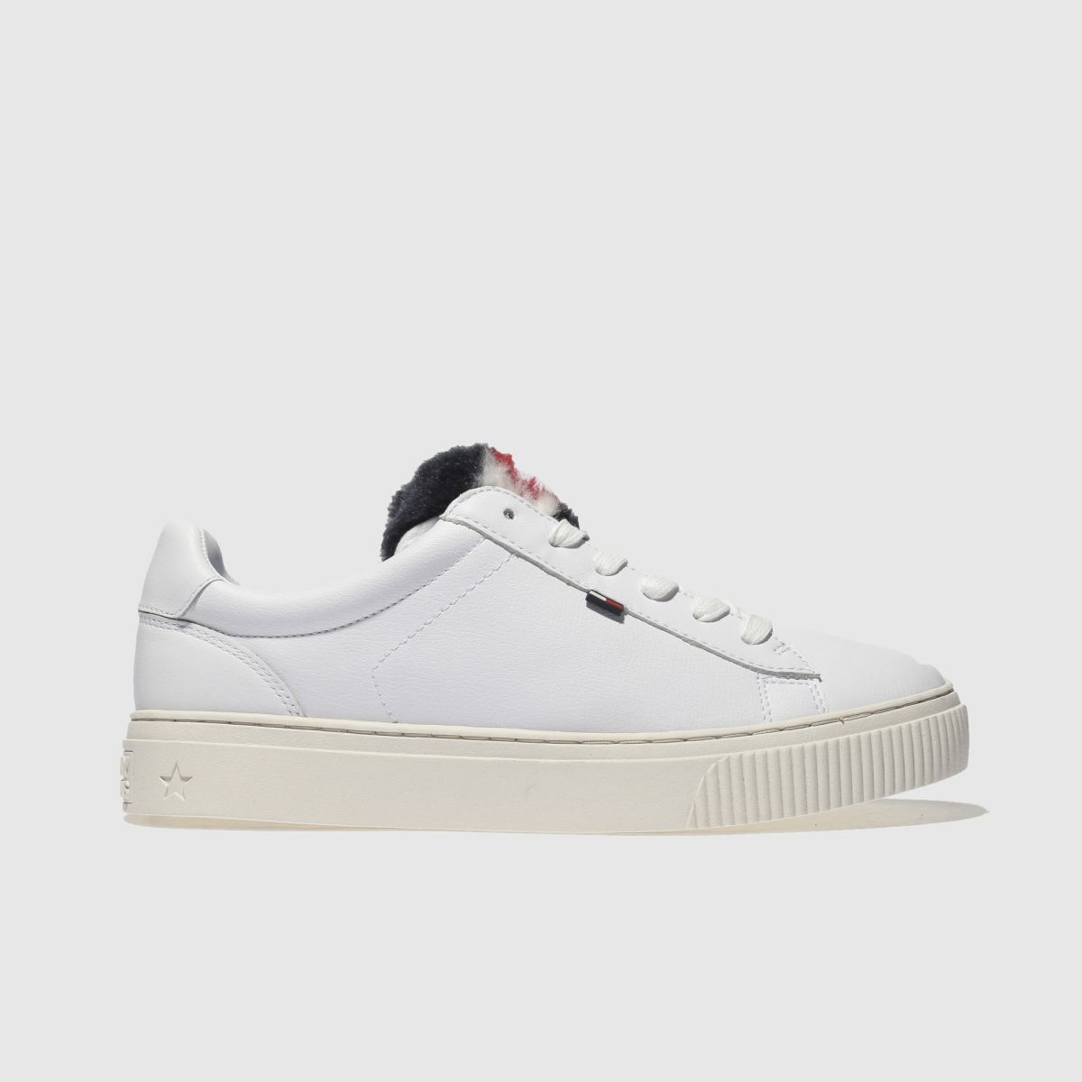 325ea6293 Tommy Hilfiger White Tj Funny Fur Star Sneaker Trainers - Female First  Shopping