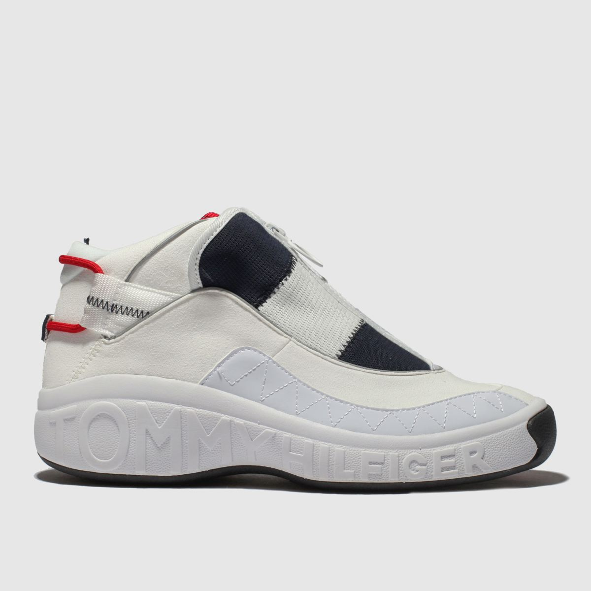 Tommy Hilfiger White & Navy Icon Flag Sneaker Trainers