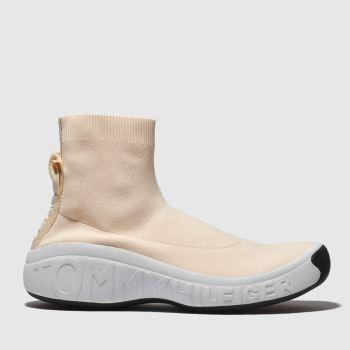 9250994233e10e Tommy Hilfiger Pale Pink Tj Knit Sock Sneaker Womens Trainers