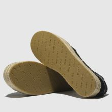 10424d5dec5930 womens black tommy hilfiger tj knit espadrille flat shoes | schuh