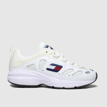 Tommy Hilfiger White Tj Retro Sneaker Womens Trainers
