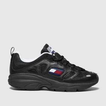 Tommy Hilfiger Black Tj Retro Sneaker Womens Trainers