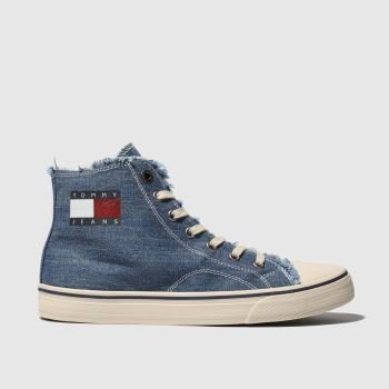 Tommy Hilfiger Blue Tj Hightop Womens Flats