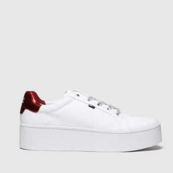 Tommy Hilfiger White Tj Flatform Sneaker Womens Trainers