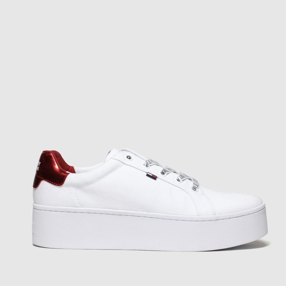 Tommy Hilfiger White Tj Flatform Sneaker Trainers