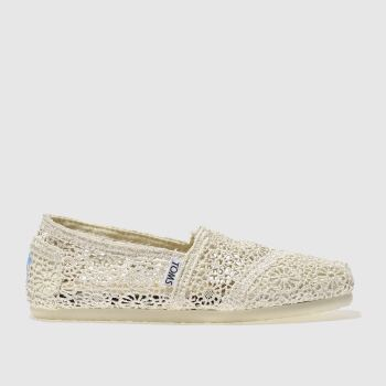 2f7af5863f2e Toms Stone Classic Crochet Womens Flats Quickview. Toms. Classic Crochet.  £44 · Converse Black   White All Star Hi Womens Trainers Quickview
