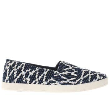 TOMS NAVY & STONE AVALON FLAT SHOES