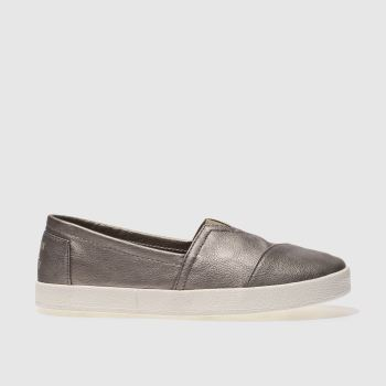 Toms Silver Avalon Metallic Womens Flats