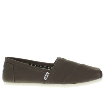 TOMS KHAKI SEASONAL CLASSIC FLAT SHOES