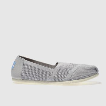 Toms Light Grey SEASONAL CLASSIC CUSTOM KNIT Flats