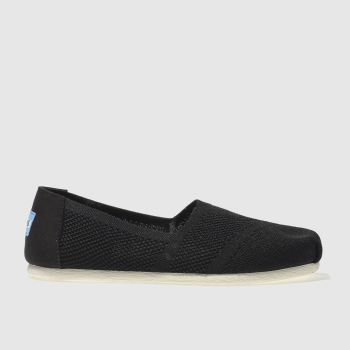 Toms Black & White Seasonal Classic Custom Knit Womens Flats