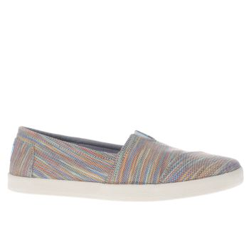 TOMS BLUE & GREEN AVALON SPACE DYE FLAT SHOES
