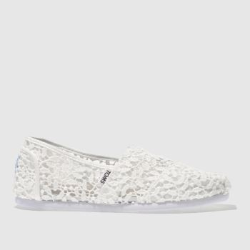 TOMS STONE CLASSIC SLIP LACE LEAVES FLAT SHOES