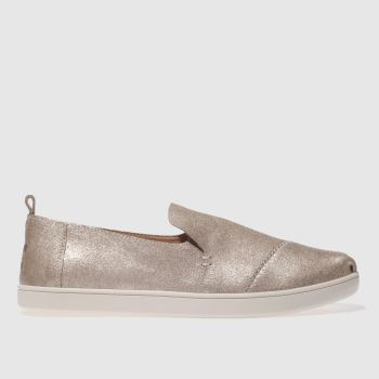 TOMS GOLD DECONSTRUCTED ALPARGATA FLAT SHOES