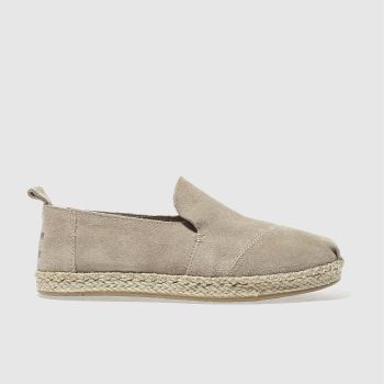 toms beige deconstructed alpargata flat shoes