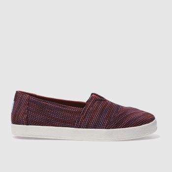TOMS PURPLE AVALON FLAT SHOES