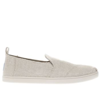 TOMS NATURAL DECONSTRUCTED ALPARGATA FLAT SHOES
