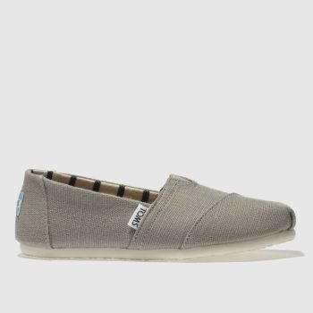 Toms Light Grey Alpargata Venice Womens Flats