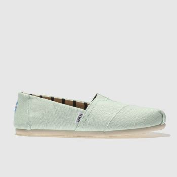 Toms Light Green Alpargata Venice Womens Flats