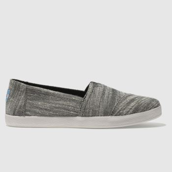 Toms Black & White Avalon Womens Flats