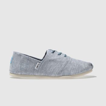 TOMS BLUE HERMOSA FLAT SHOES