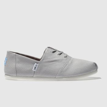 64caa0abf57 Toms Light Grey Hermosa Womens Flats