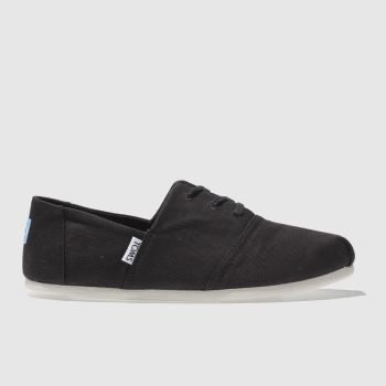 TOMS BLACK HERMOSA FLAT SHOES