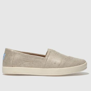 TOMS Gold Avalon Damen Flats