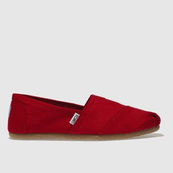 Toms Red Classic Slip c2namevalue::Womens Flats