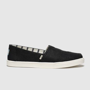 Toms Black & White Alpargata Cupsole c2namevalue::Womens Flats