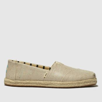 Toms Natural Alpargata Rope Sole Womens Flats
