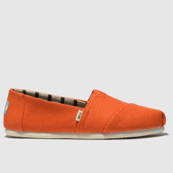 Toms Orange Alpargata Womens Flats