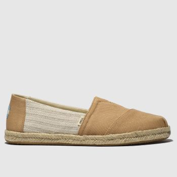toms peach alpargata flat shoes
