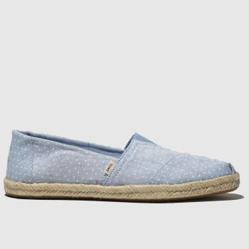 Toms Blue Alpargata Rope Sole Womens Flats