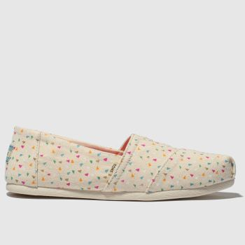 toms stone & pink alpargata flat shoes