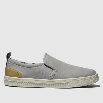 Toms Light Grey Trvl Lite Slip-on Womens Flats