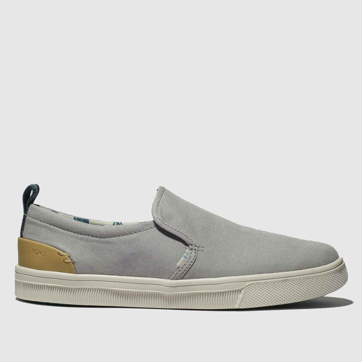 Toms Light Grey Trvl Lite Slip-on Flat Shoes
