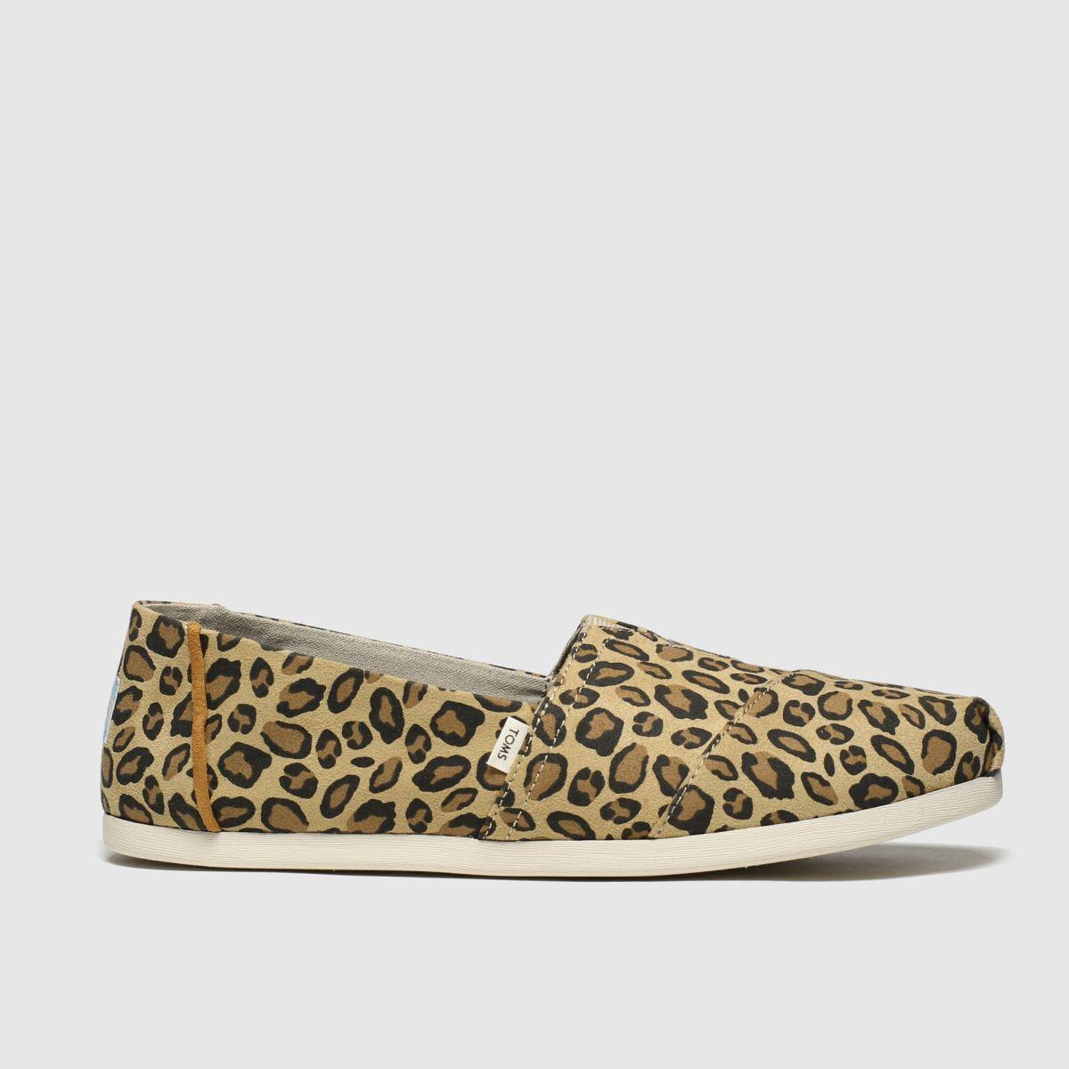 Toms Beige & Brown Alpargata 3.0 Leopard Flat Shoes