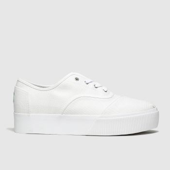 Toms White Cordones Platform Vegan Womens Flats from Schuh