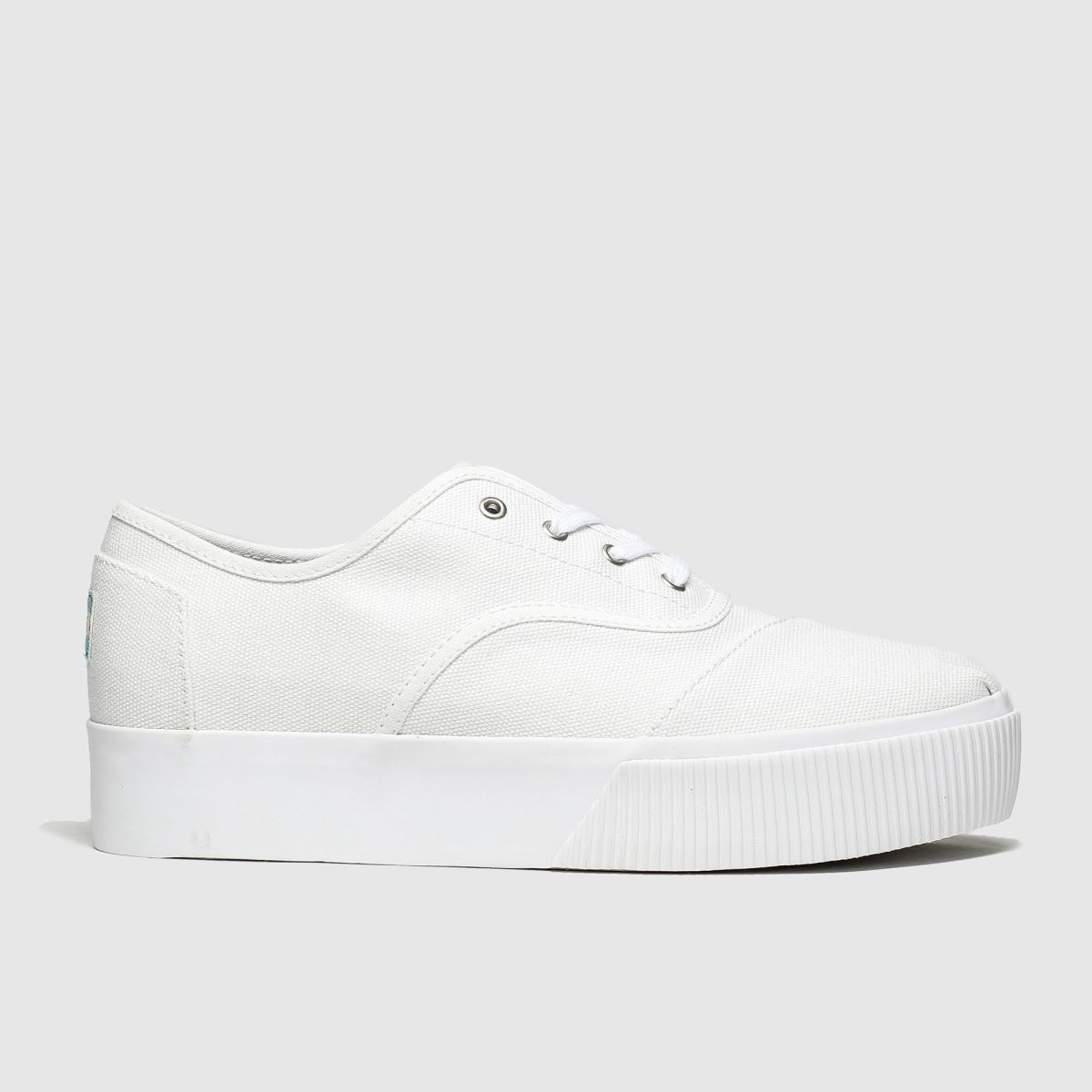 Toms White Cordones Platform Vegan Flat Shoes