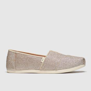 Toms Pink Alpargata Glitter c2namevalue::Womens Flats