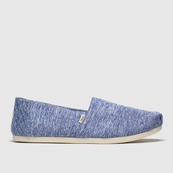 TOMS Blue Alpargata Slip Repreve Womens Flats