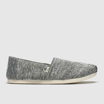 TOMS Grey Alpargata Slip Repreve Womens Flats