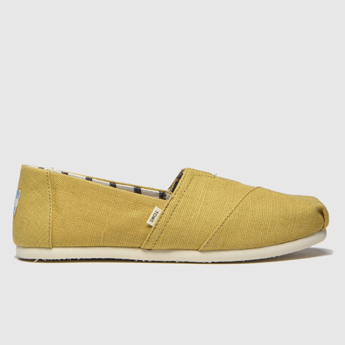 Toms Yellow Alpargata Venice Flat Shoes