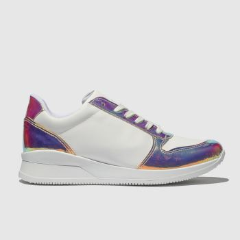Schuh White & Gold Sonar Womens Trainers