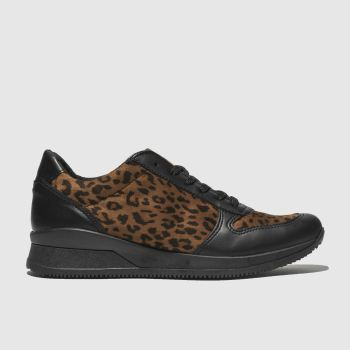 Schuh Black & Brown Sonar Womens Trainers