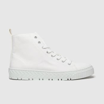 Schuh White Marley Hi Top Trainer Womens Trainers#