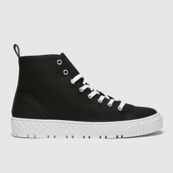 schuh Black Marley Hi Top Trainer Womens Trainers