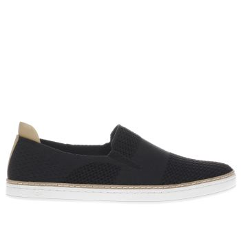 UGG BLACK & WHITE SAMMY FLAT SHOES